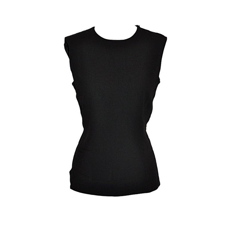 Ann Demeulemeester black backless top 1