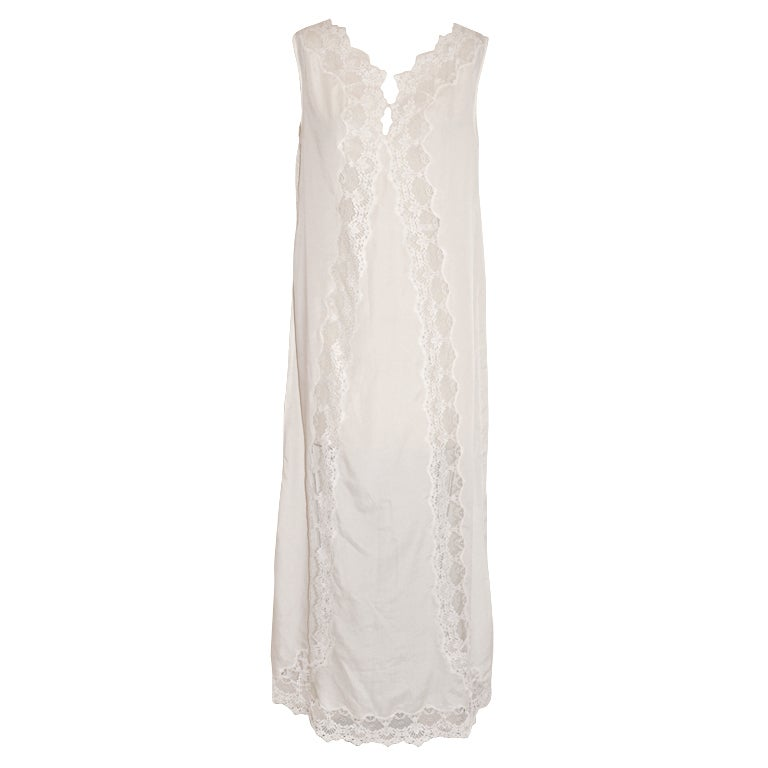 Christian Dior white lace neligee