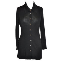 Ann Demeulemeester black  body-hugging blouse