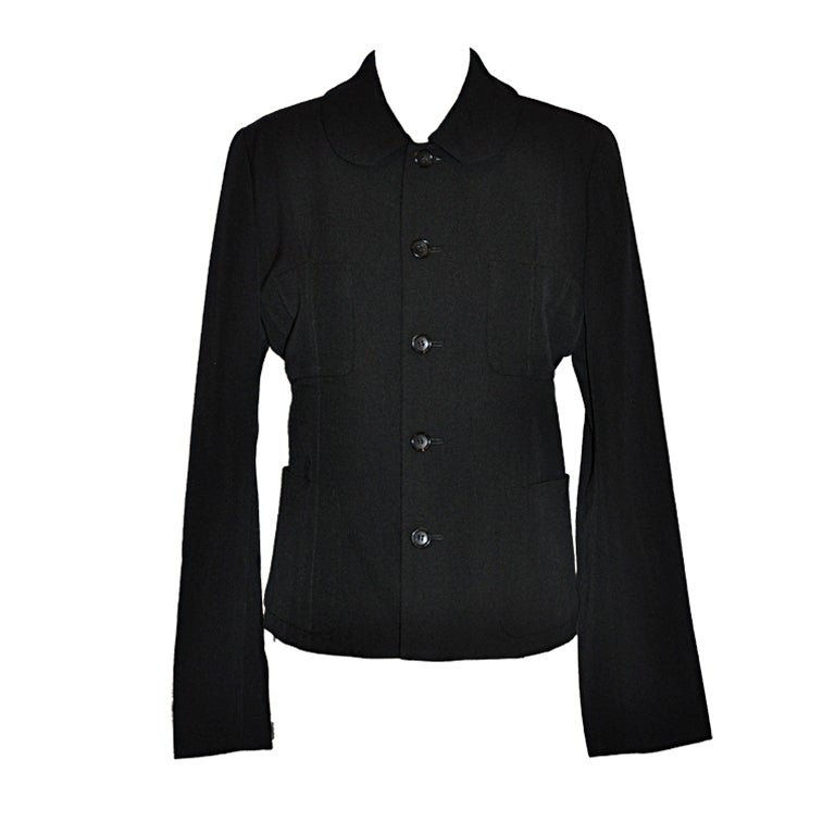 Comme des garcons deconstructive black wool jacket