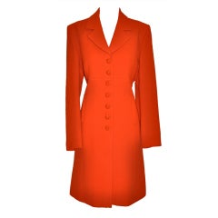 Therese Baumaire 2-piece neon orange shealth with coat