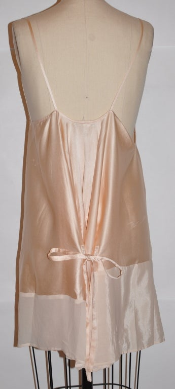 Ann Demeulemeester asymmetrical Rose silk/chiffon slip dress For Sale 1