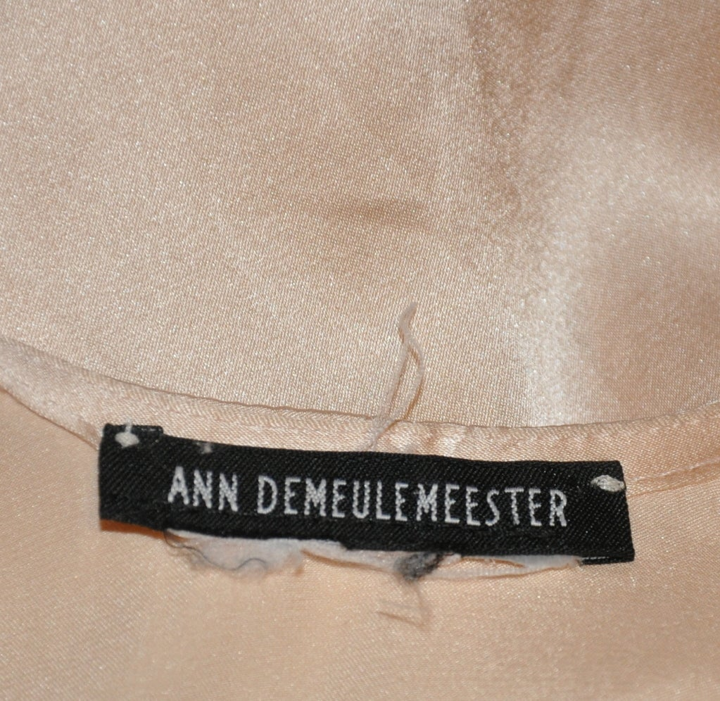 Ann Demeulemeester asymmetrical Rose silk/chiffon slip dress For Sale 4