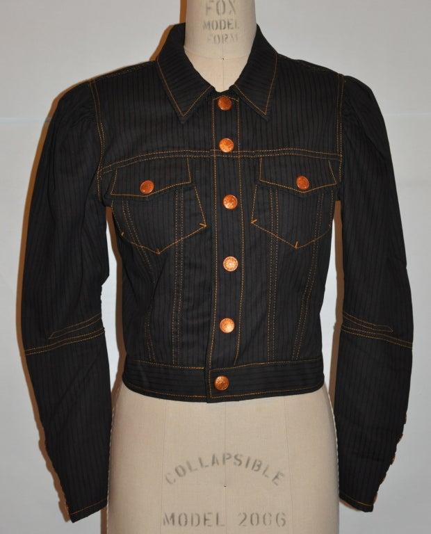 Jean Paul Gaultier Black denim jacket 2