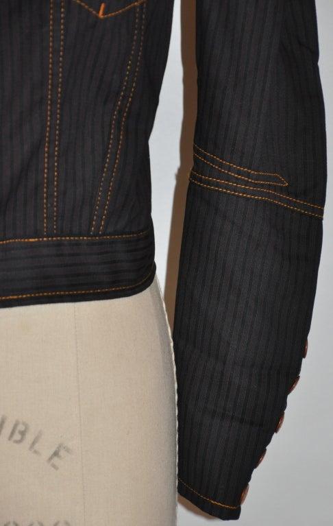 Women's Jean Paul Gaultier Black denim jacket For Sale