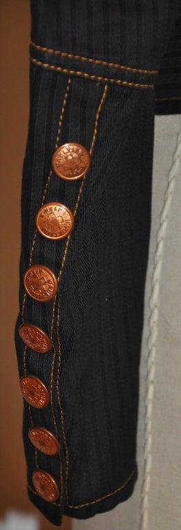 Jean Paul Gaultier Black denim jacket 4