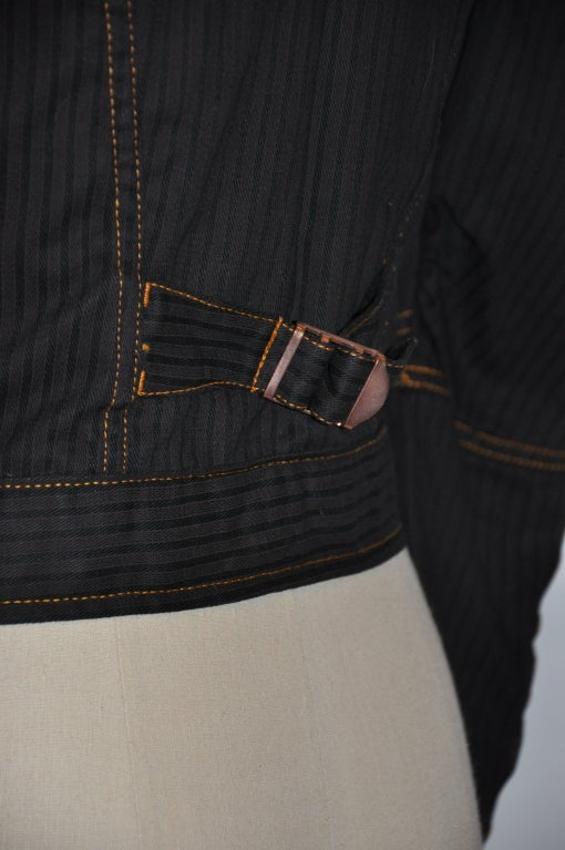 Jean Paul Gaultier Black denim jacket For Sale 2
