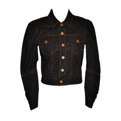 Jean Paul Gaultier Black denim jacket