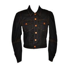 Jean Paul Gaultier Iconic Black Denim Jacket