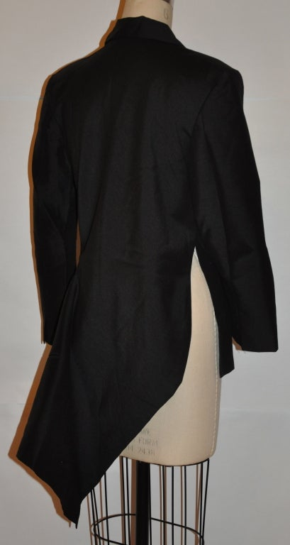 Yohji Yamamoto Deconstructed Black Blazer At 1stdibs