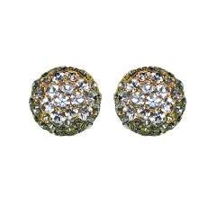 Multi-sized Rhinestones clip on earrings