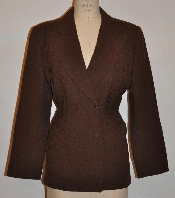Jean Paul Gaultier Coco Brown wool crepe jacket 2