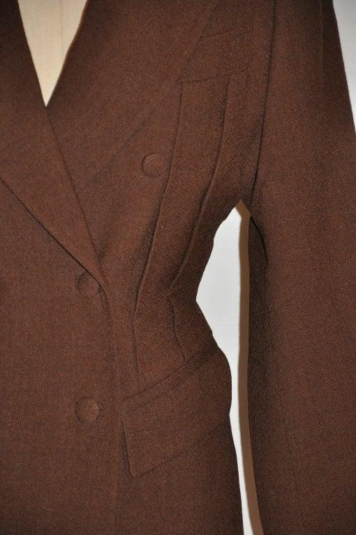 Jean Paul Gaultier Coco Brown wool crepe jacket 3