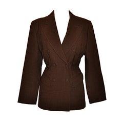 Jean Paul Gaultier Coco Brown wool crepe jacket