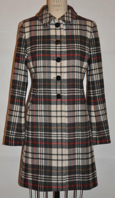 Ages B. wool plaid coat 2