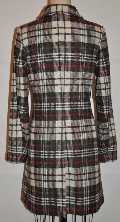 Black Ages B. wool plaid coat For Sale