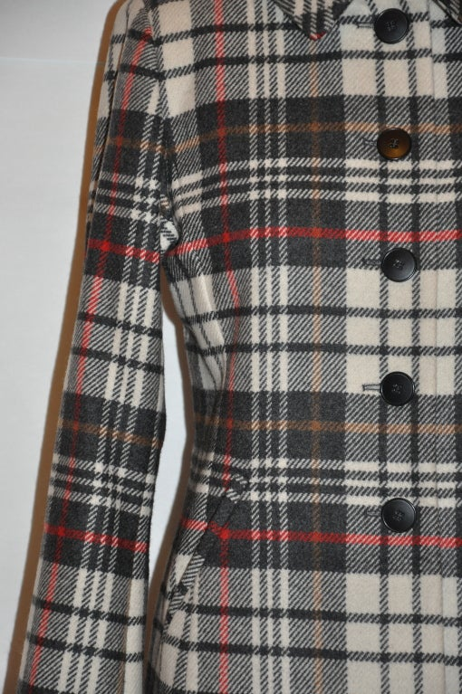 Women's Ages B. wool plaid coat For Sale