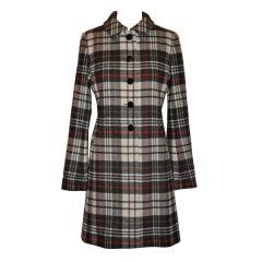 Ages B. wool plaid coat