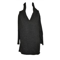 Jean Paul Gaultier charcoal wool bend pullover