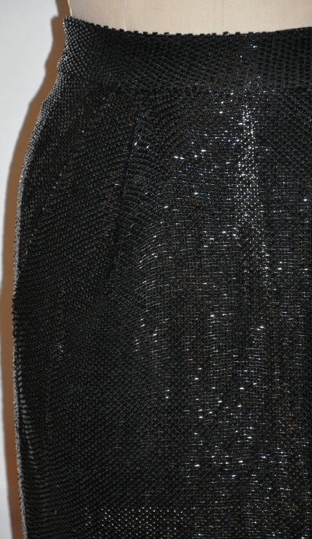 Donna Karan Black beaded evening ensemble For Sale 2