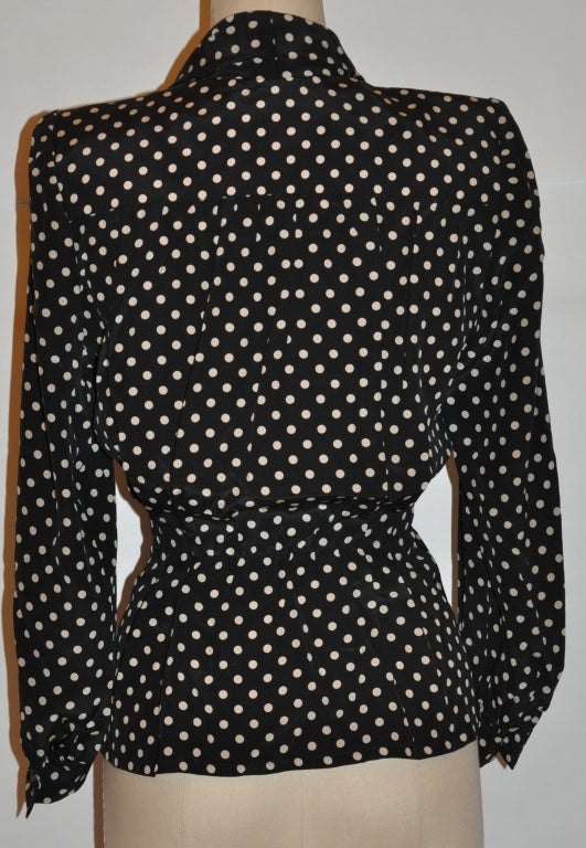 Givenchy silk Black & white polka dot blouse 3