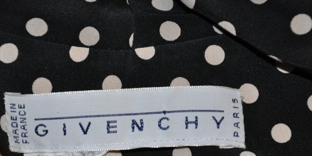Givenchy silk Black & white polka dot blouse 4