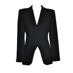 Giorgio Armani black wool crepe jacket