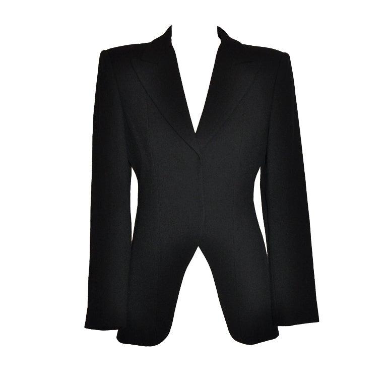 Giorgio Armani black wool crepe jacket
