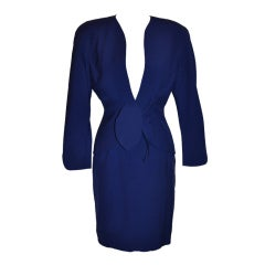 Thierry Mugler Signature Sculpted Form-Fitting 2-piece Suit & Skirt Ensemble