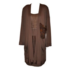 Alma Couture Coco three-piece jersey ensemble
