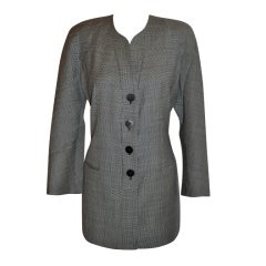 "Giorgio Armani ""Le Collection"" Black & white spring wool jacket"