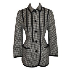 Valentino black & White wool jacket