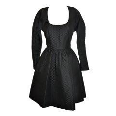 Carolyn Roehm Black silk cocktail dress