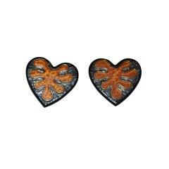 "Yves Saint Laurent ""leaf"" clip earrings"