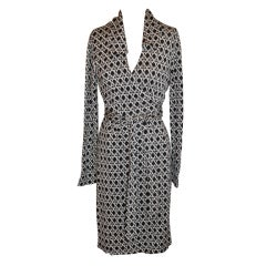 Diane Von Furstenberg black & white classic wrap dress