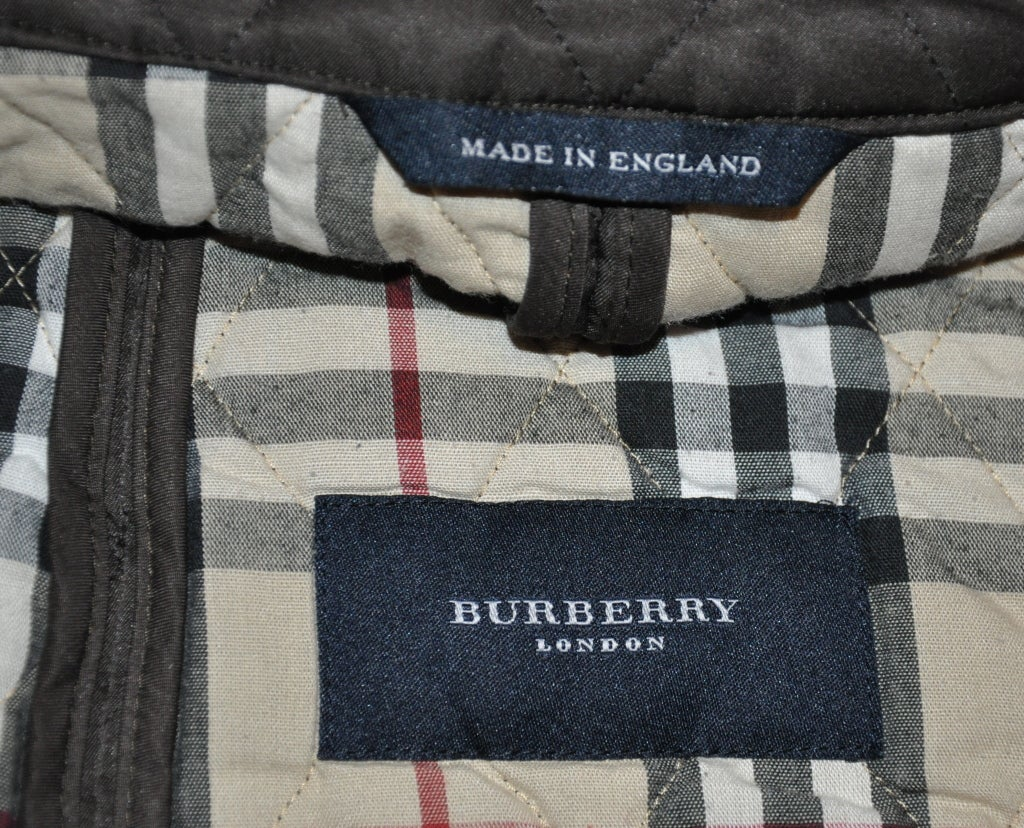 Black Burberrys brown quilted jacket