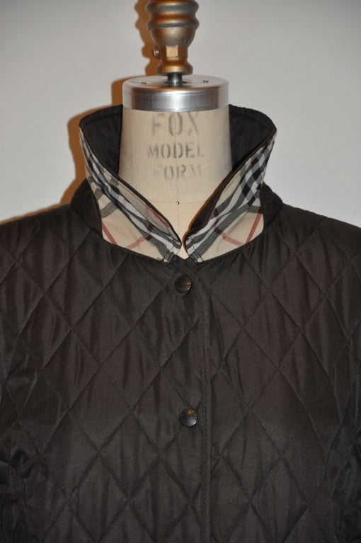Women's Burberrys brown quilted jacket