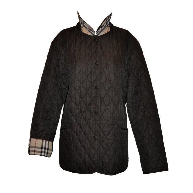 Burberrys brown quilted jacket