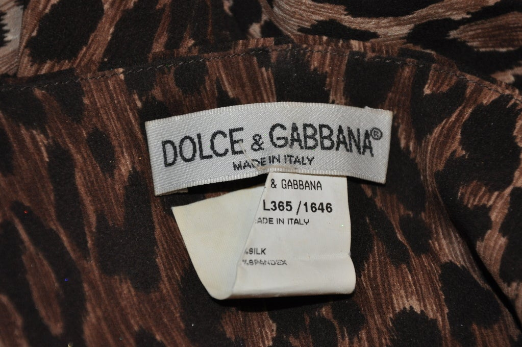 Dolce & Gabbana leopard print body-hugging dress 3