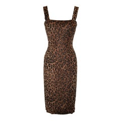 Dolce & Gabbana leopard print body-hugging dress