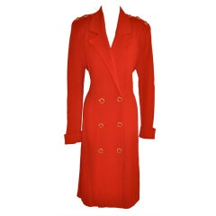 St. John by Marie Gray Engine-Red knit dress