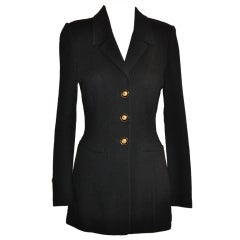 """St. John """"Collection"""" black knit jacket"""