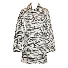 Marc Jacobs Zebra stripe canvas spring coat