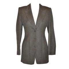 Giorgio Armani Cashmere wool blend herringbone jacket