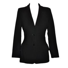 Dolce & Gabbana black and black stripe wool jacket