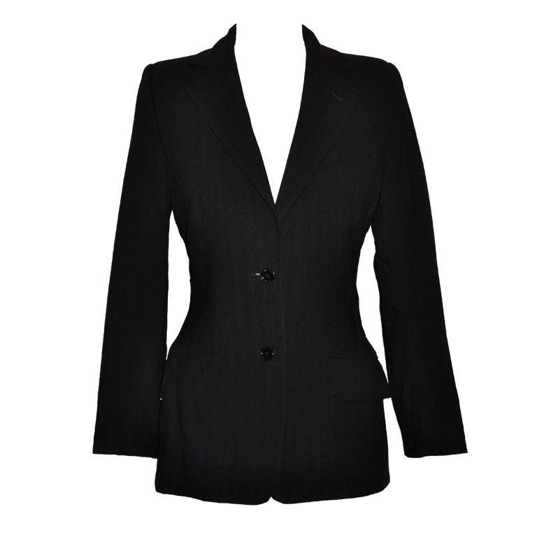 Dolce & Gabbana black and black stripe wool jacket