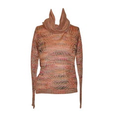 Missoni multi-colored in peach hues turtleneck