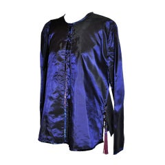 Sanchez Plum silk tunic with tassles