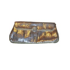 Whiting & Davis Silver Mesh clutch
