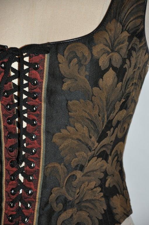 Black Gigi Clark lace-up bustier For Sale